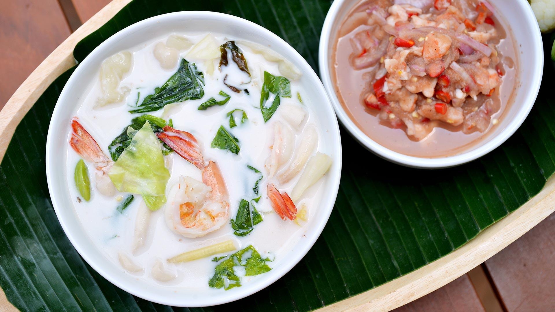 Hähnchen-Kokos-Ingwer-Suppe