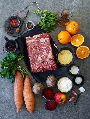 Zutaten für ein Pfeffer Roastbeef