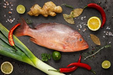 Red Snapper mit Chili Mango Sauce