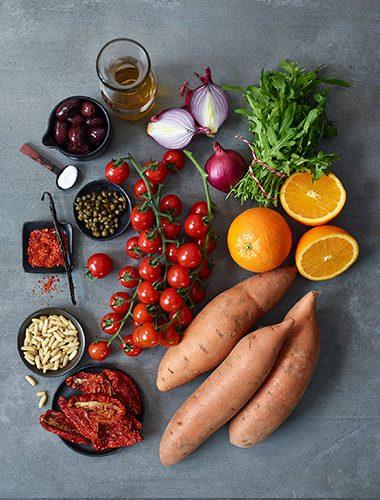 Zutaten für Süßkartoffel-Spaghetti