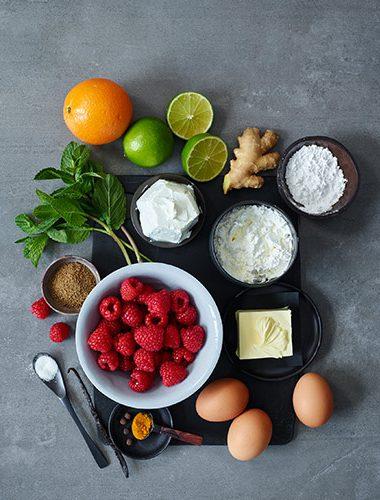 Zutaten für Ziegenkäse Pancakes