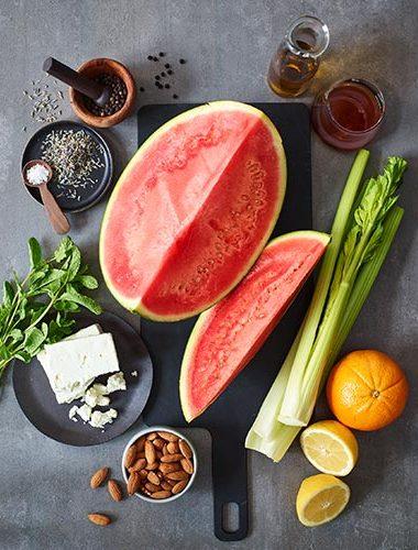 Zutaten für gegrillte Melone