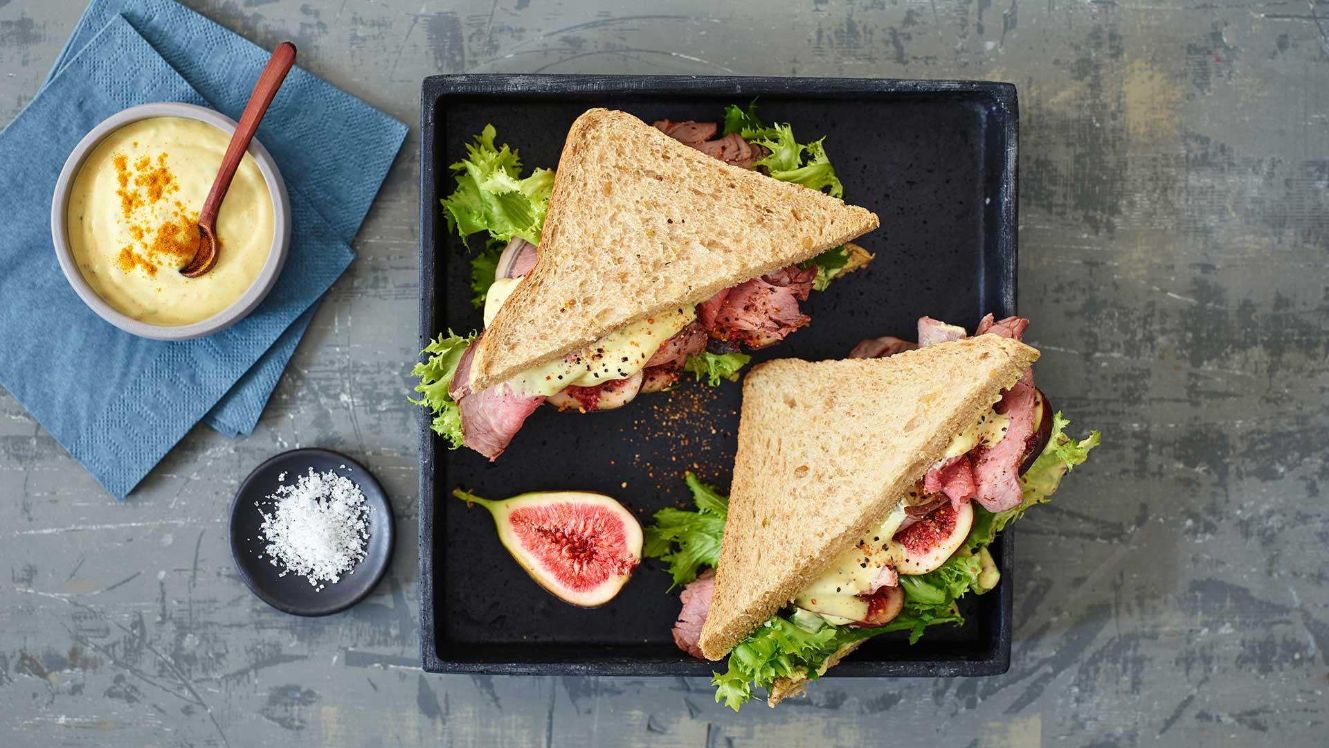 Pfeffer Roastbeef Sandwich