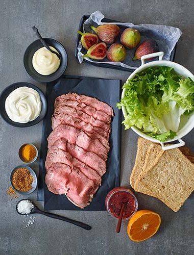 Roastbeef Sandwich Zutaten