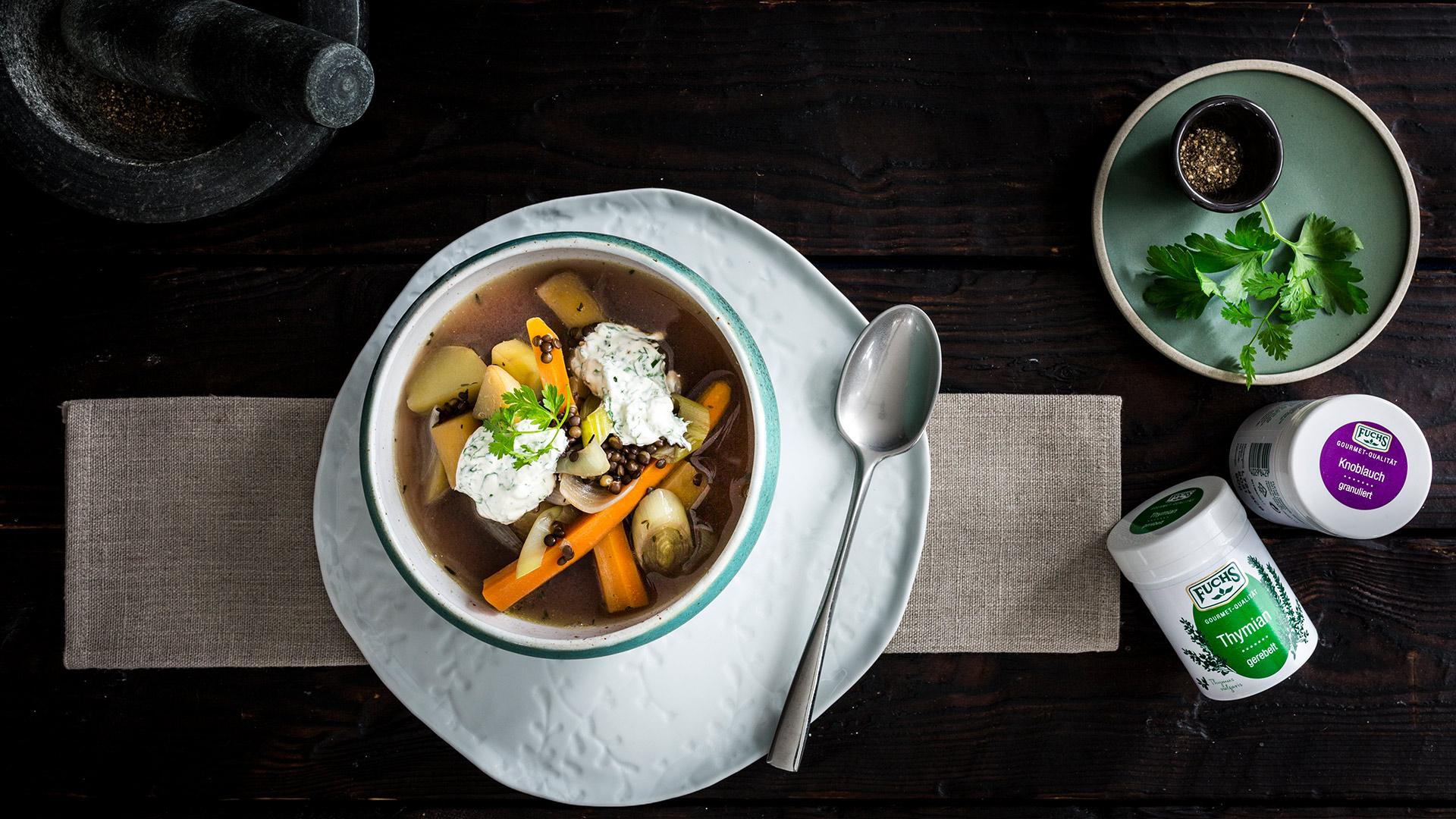 Gemüse Pot Au Feu Mit Kräuterschmand Fuchsde