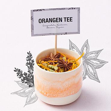 Orangen-Tee-Mischung