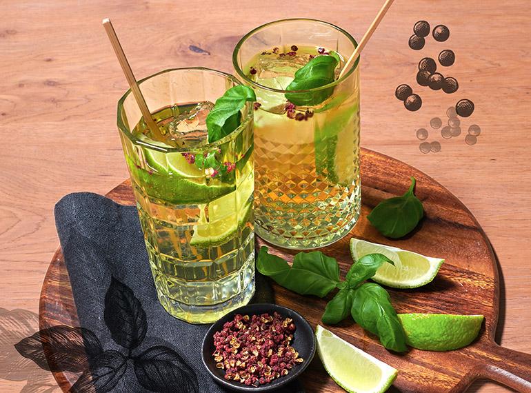Gin Tonic mit Szechuan-Pfeffer