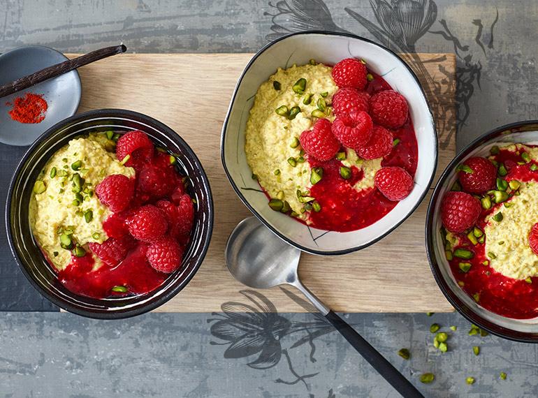 Quinoa-Safran-Porridge