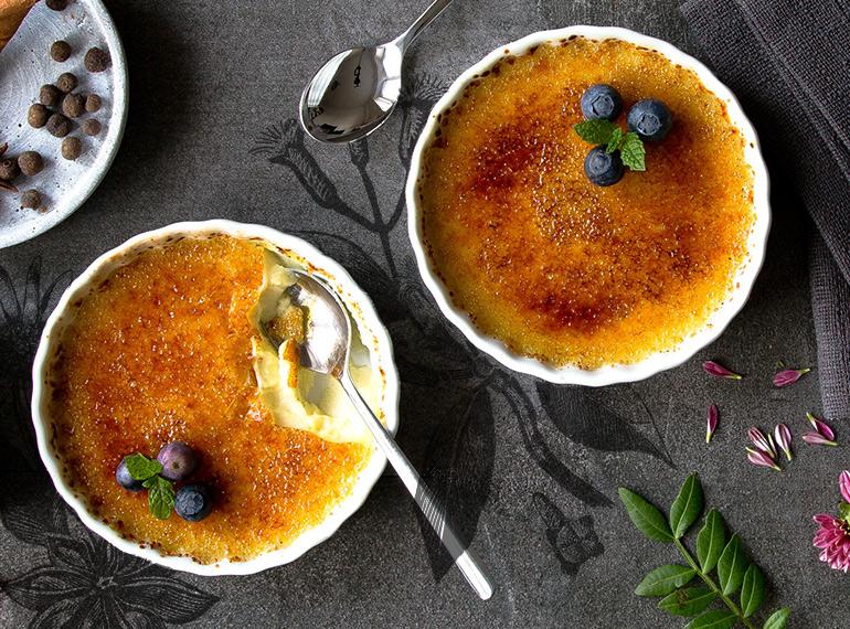 Würzige Crème brûlée